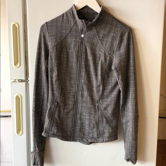 Grey lululemon jacket size 4